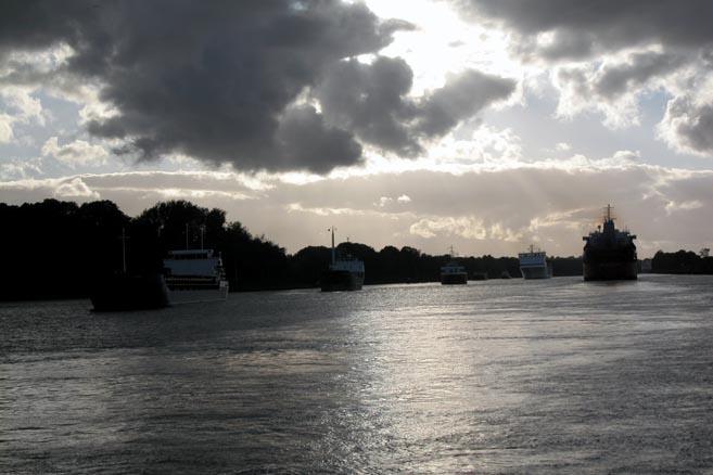 Закат над Кильским каналом