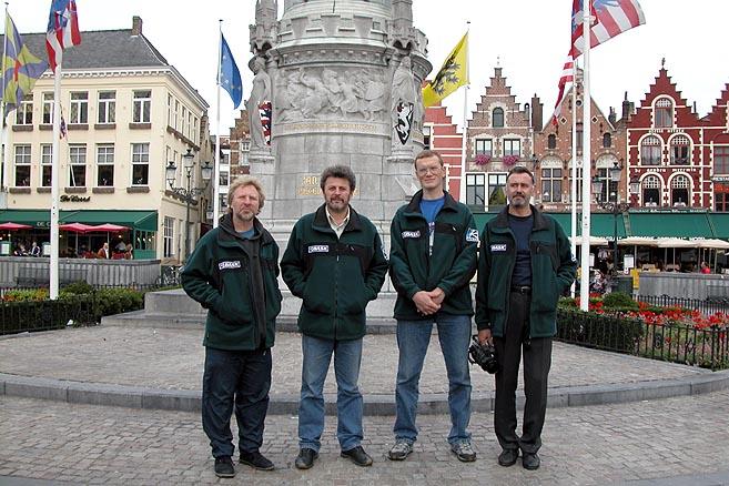 На главной площади Брюгге