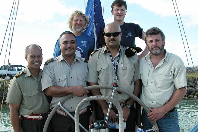 Командование флота Королевства Тонга в полном составе
