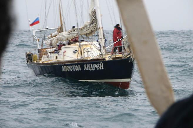 Туман позволил незаметно подойти вплотную к чилийскому судну DAP Mares
