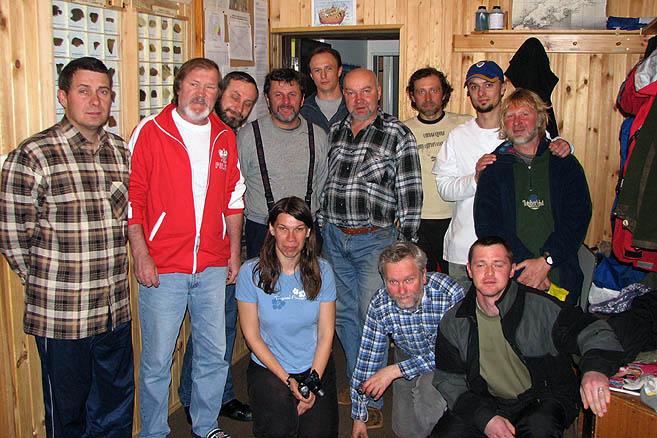 Польские и российские полярники и экипаж «Апостола Андрея»