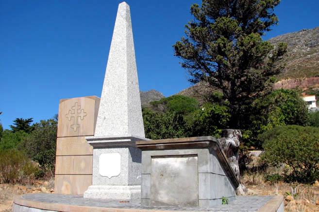 Саймостаун. Памятник русским морякам, умершим в экспедициях начала XIX века.