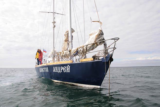 На якоре у острова Колгуев
