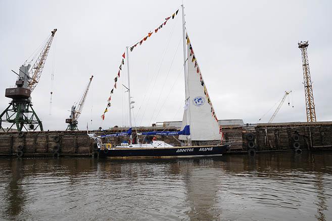 «Апостол» украшен по случаю Дня Военно-морского флота