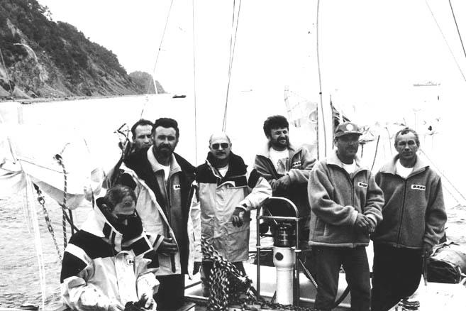 Слева направо: А.Левин, Ю.Гаврилов, А.Киреев, А.Гершуни, Н.Литау, Р.Смирных, В.Киреев