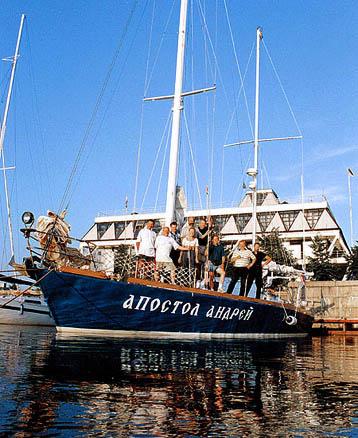 К новому путешествию яхта и экипаж готовились в Санкт-Петербурге