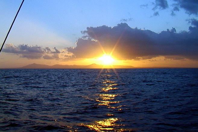 Закат у берегов Кабо-Верде