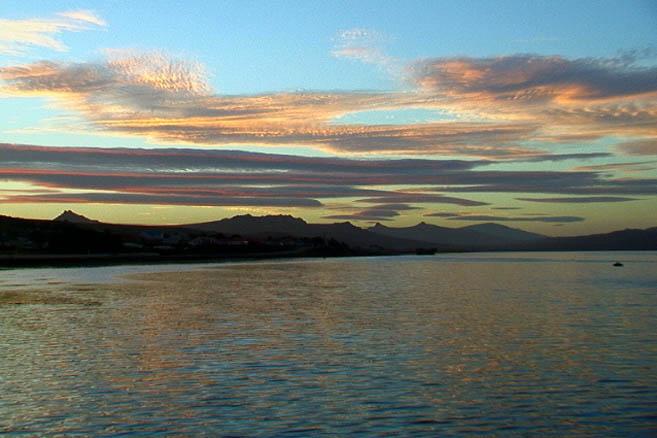 Закат на Фолклендских островах