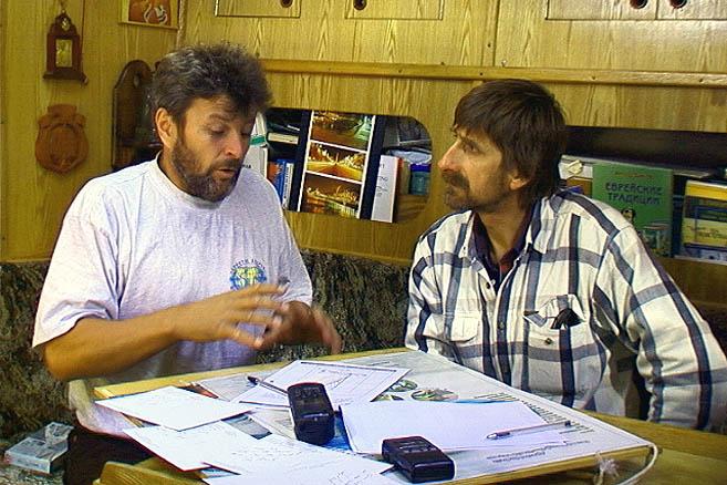 Николай Литау и Скип Новак, бывший когда-то шкипером знаменитой «Фазиси»