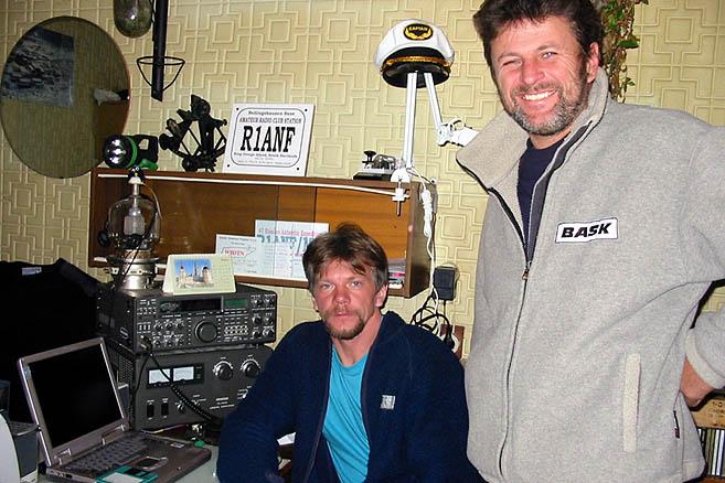 Начальник станции Андрей Сахаров и капитан Николай Литау