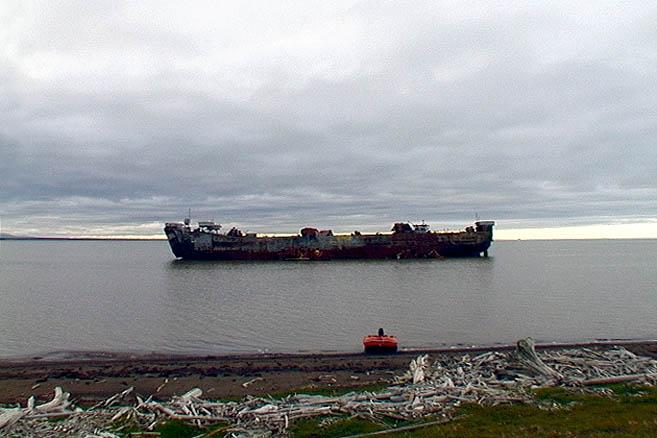 Wreck в южной части бухты Демаркейшн