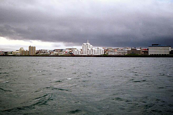 Панорама Рейкьявика с моря