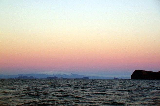 Острова Вестманнаейяр близ Исландии