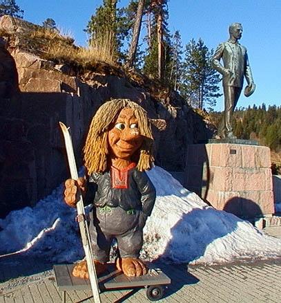 Привратник у входа в Музей лыж