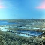 Озеро на острове Попова-Чухчина