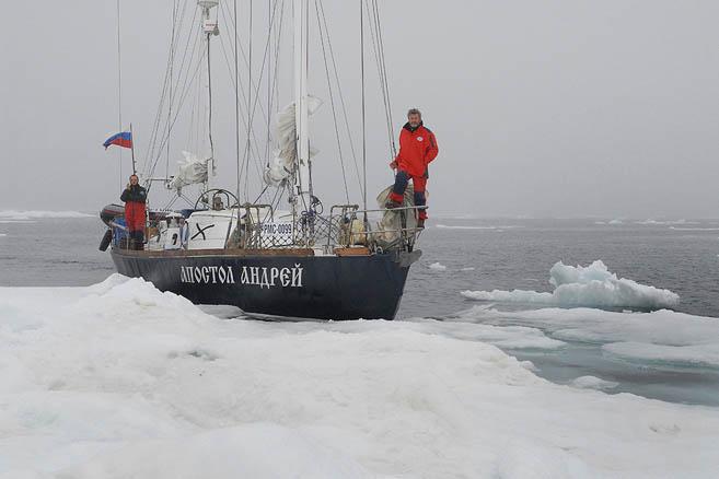 Удобная льдинка у 82-го градуса северной широты