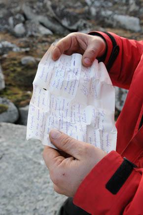 Сергей Бармин нашел записку 40-летней давности