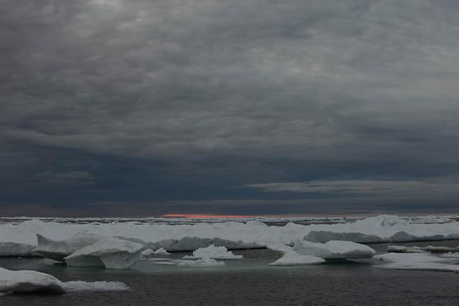 Ледовые поля у Северной Земли