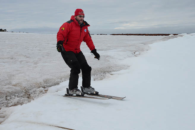 Самый северный лыжник