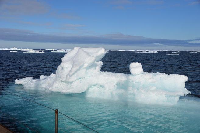 Карское море, август, льды