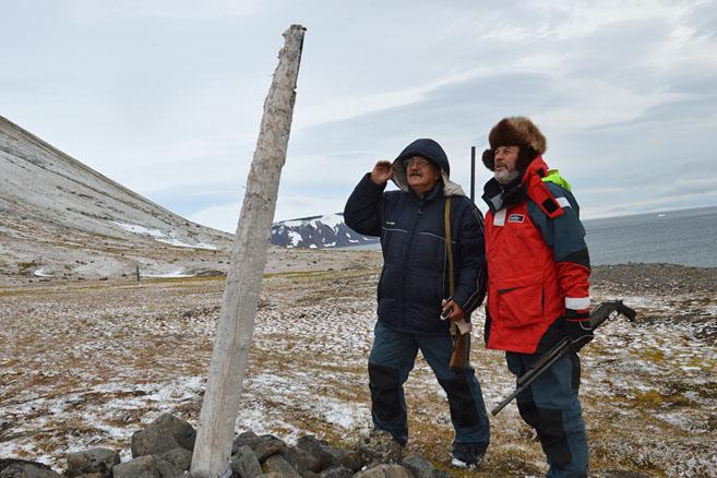 Геолог и кпитан на острове Нортбрук