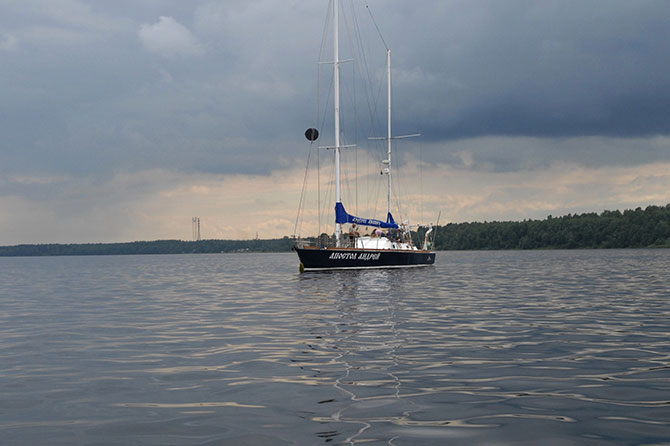 «Апостол Андрей» покидает Архангельск.